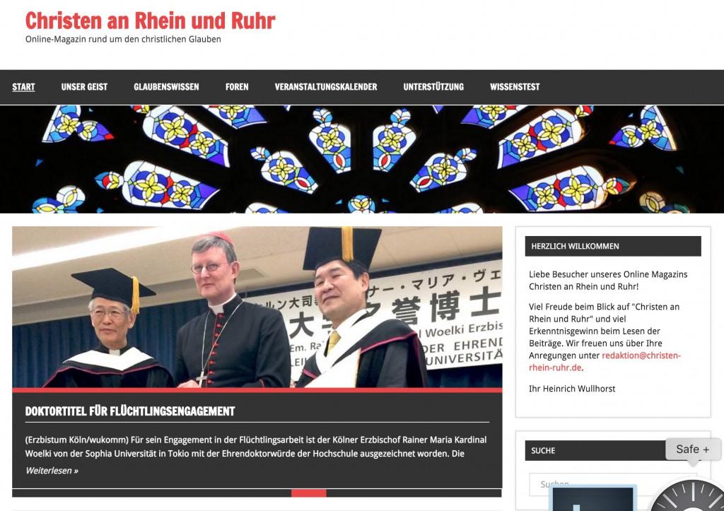 Homepage Christen an Rhein und Ruhr